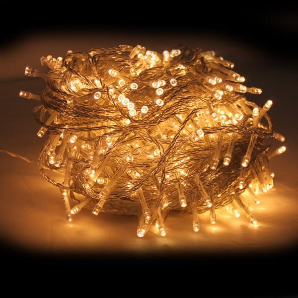 Grafner® LED-Lichterkette 100 Meter 1000 LED warmweiss