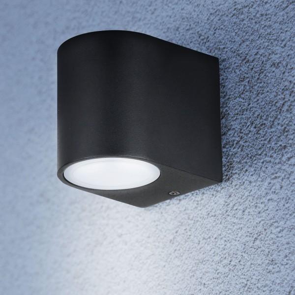 Grafner® Aluminium Wandlampe 37WB Leuchte Lichtschein Down/Unten in schwarz
