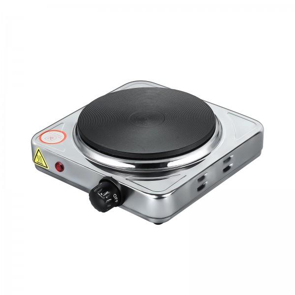 Grafner® Einzel Kochplatte Kochfeld 1000 Watt aus Edelstahl Herdplatte
