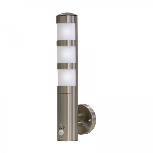 Grafner Edelstahl-Wandlampe mit Bewegungsmelder 137WBPIR WL10199
