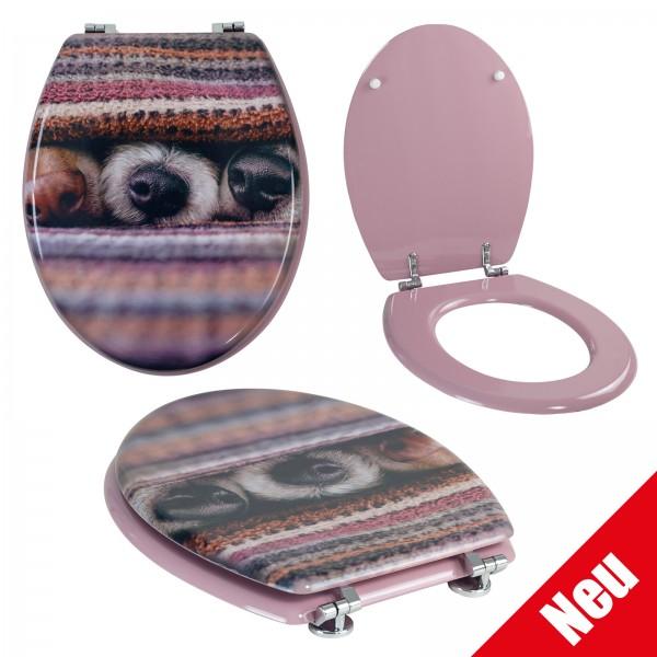 Grafner® WC Sitz aus MDF Dog mit Absenktautomatik