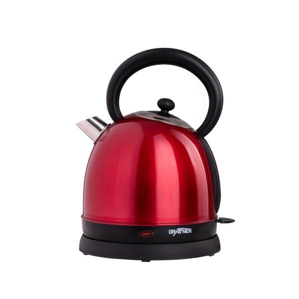 Grafner® Retro-Wasserkocher 1,8 Liter 2200 Watt Rot WK10862