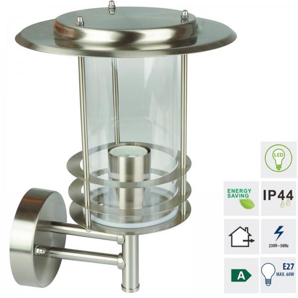 Grafner® Edelstahl Wandlampe 17WB Wandleuchte Hofleuchte