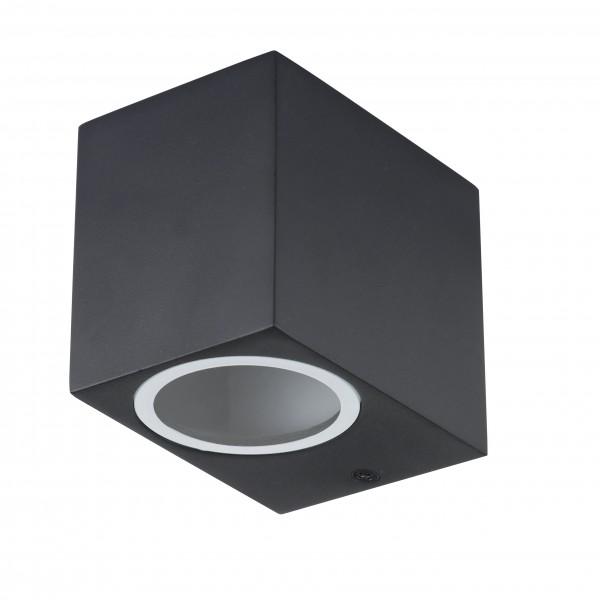 Grafner Aluminium-Wandlampe 37SQWB black WL10310