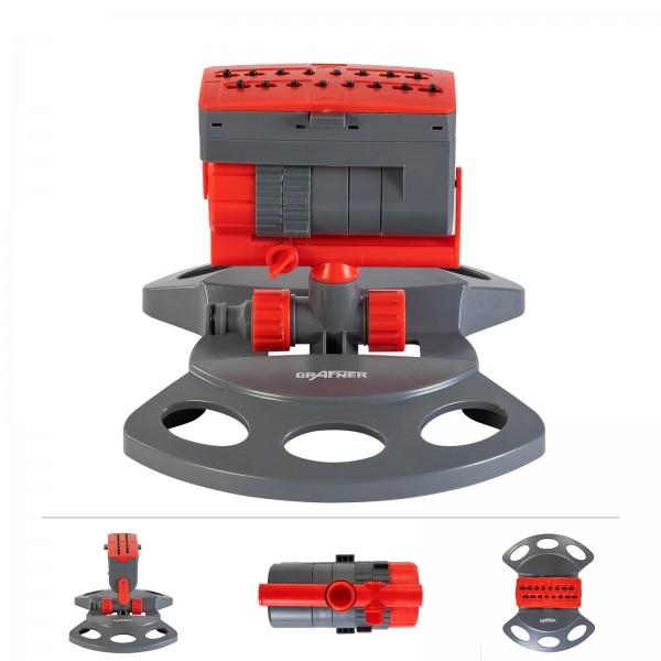 Grafner® Rasensprenger Viereckregner - 16 Düsen RS10822