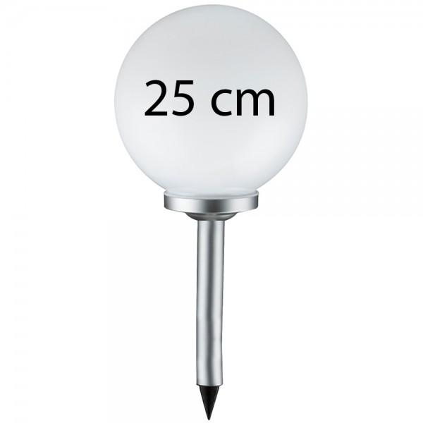 Grafner® LED Solar Kugel Ø25cm Solarleuchte Kugelleuchte mit Erdspieß