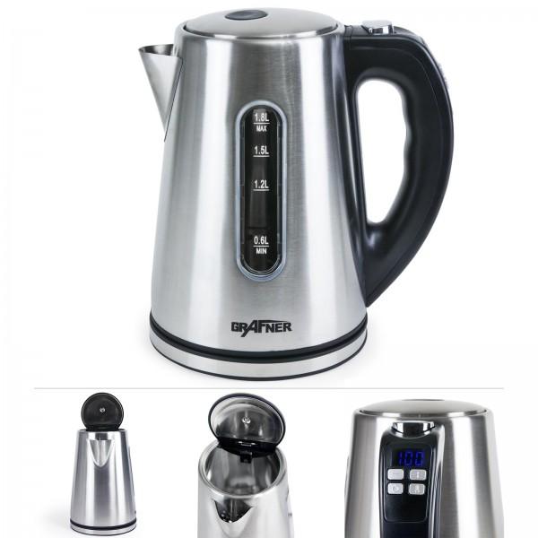 Grafner® Digitaler Edelstahl Wasserkocher mit Temperaturwahl 2200 Watt 1,8 Liter