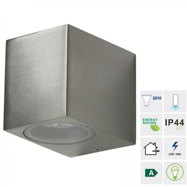 Grafner® Aluminium Wandlampe 37SQWB poliert Wandleuchte Lichtschein Down/Unten