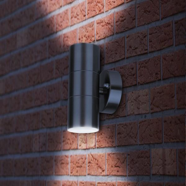 Grafner® Edelstahl Wandlampe 26AR Wandleuchte Lichtschein Up&Down/Oben&Unten