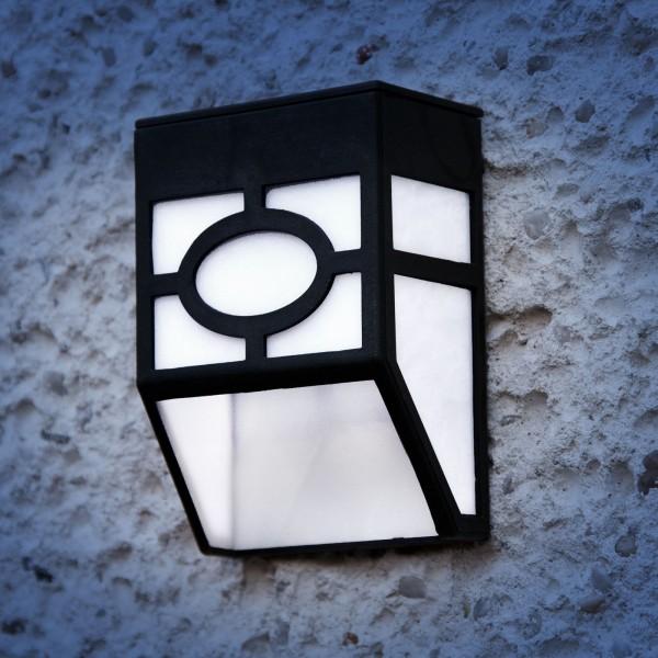 Grafner® LED Solar Wandlampe SL10701 Wandleuchte Solarleuchte