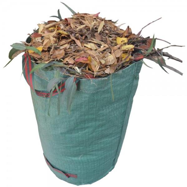 Grafner® Gartenabfallsack 272 Liter Gartentasche rund Laubsack
