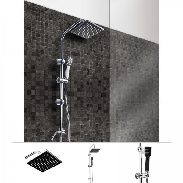 Grafner® Duschgarnitur mit Regenschauerduschkopf und Handbrause Duschsäule