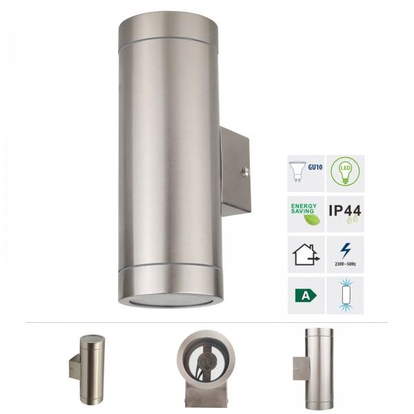 Grafner® Edelstahl Wandlampe 123WB-2 Leuchte Lichtschein Up&Down/Oben&Unten