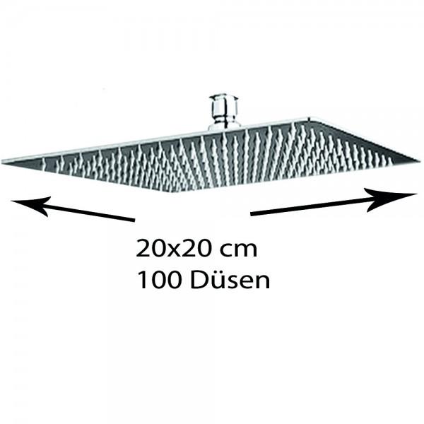 Grafner® Edelstahl Duschkopf 20x20 cm Regendusche