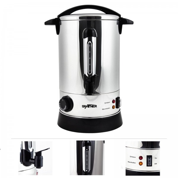 Grafner® XL Heißgetränkeautomat Glühweinkocher 1500 Watt 8,8 Liter HG10741