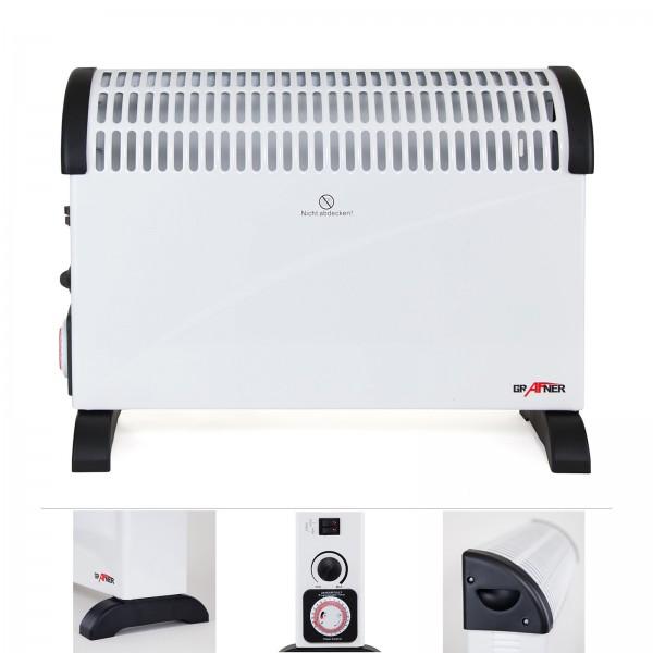 Grafner® Konvektor Heizgerät 2000 Watt mit Timer Frostwächter KH10847