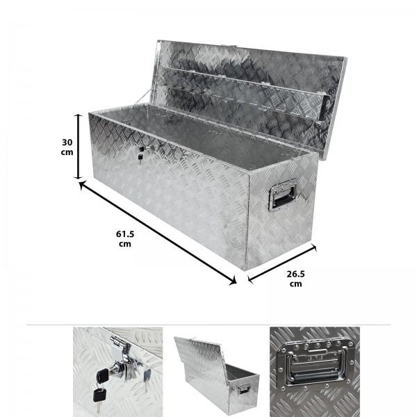 Grafner® Werkzeugkasten Alu Transportbox 61,5 x 26,5 x 30 cm