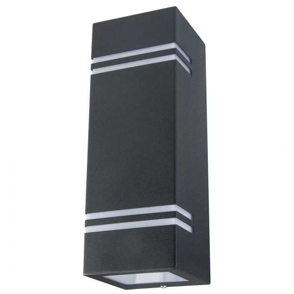 Grafner® Edelstahl Wandlampe 5142-2 Leuchte Lichtschein Up&Down/Oben&Unten in schwarz