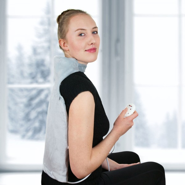Grafner® Nacken und Rücken Heizkissen elektrisches Wärmekissen Rückenwärmer
