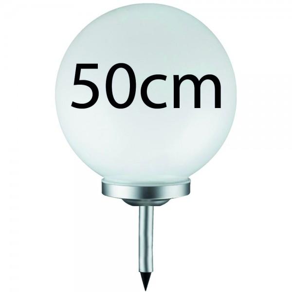Grafner® LED Solar Kugel Ø50cm Solarleuchte Kugelleuchte mit Erdspieß