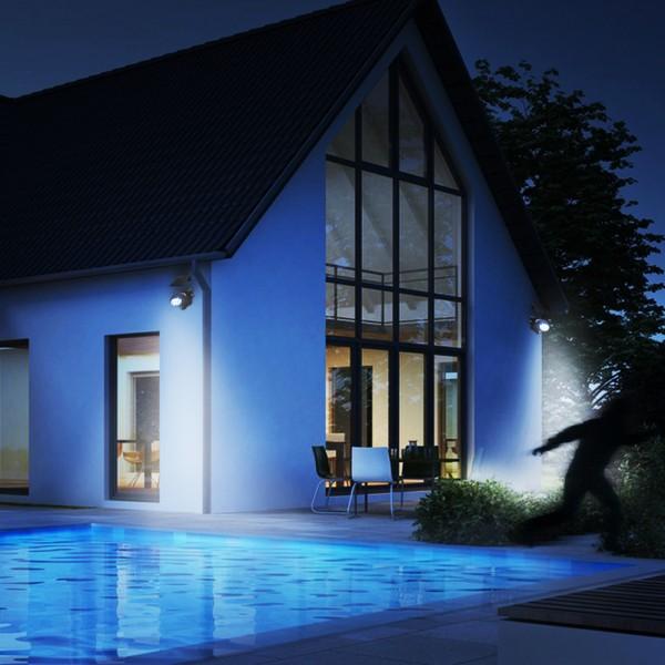 Grafner® LED Solar Wandlampe mit Bewegungsmelder Wandleuchte Solarstrahler