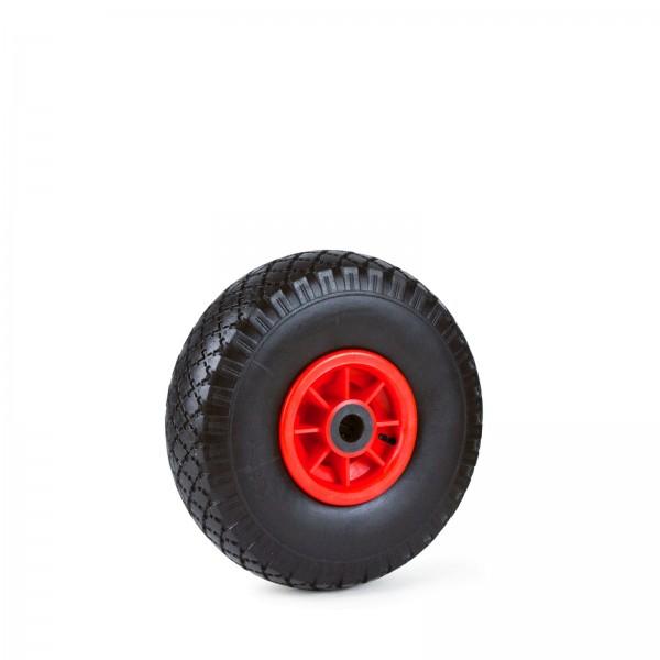 Grafner® Sackkarren/Bollerwagenrad 3.00-4 PU Luftbereifung Kunststoff Felge