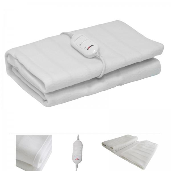 Grafner® elektrisches Wärmeunterbett / Heizdecke aus Fleece 150x80cm Wärmedecke