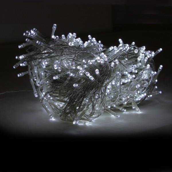 Grafner® LED-Lichterkette 50 Meter 500 LED kaltweiss
