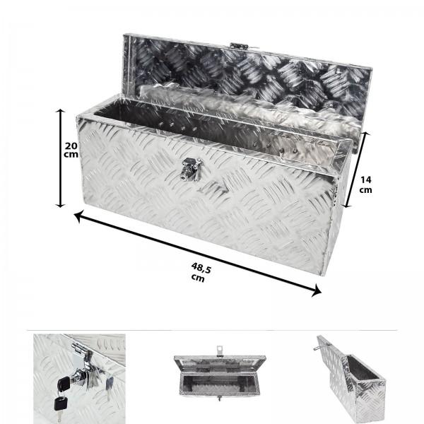 Grafner® Werkzeugkasten Alu Transportbox 48,5 x 14 x 20 cm