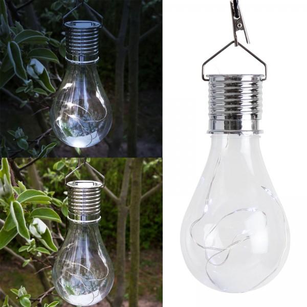 Grafner® LED Solar Glühbirne mit Micro Lichterkette