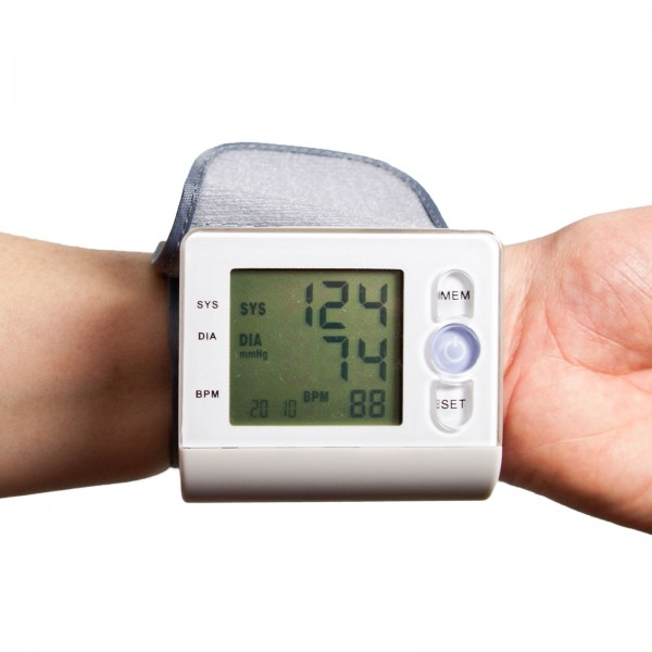 Grafner® digitales Blutdruckmessgerät für das Handgelenk vollautomatische Blutdruck und Pulsmessung