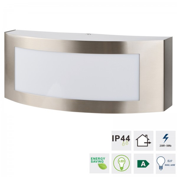 Grafner® Edelstahl Wandlampe 35SQE27-4 Leuchte