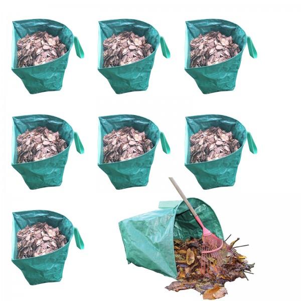 8er Set Grafner® halbrunder Gartenabfallsack 170 Liter Gartentasche Laubsack