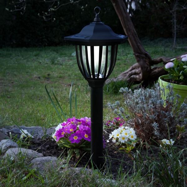 Grafner® LED Solar Standleuchte 52cm Gartenlampe mit Erdspieß