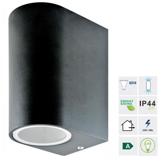Grafner® Aluminium Wandlampe 37WB-2 Leuchte Lichtschein Up&Down/Oben&Unten in schwarz
