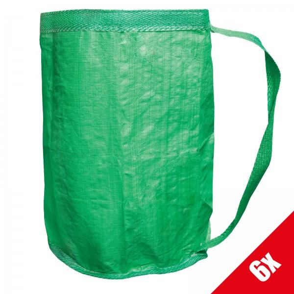 6x Grafner® Gartentasche/Laubsack mit Umhängegurt (6x19534)
