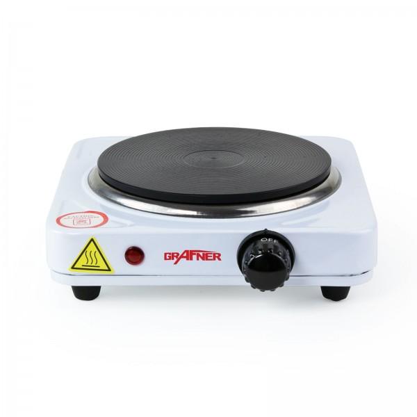 Grafner Kochplatte einzel 1000 Watt weiss KP10733