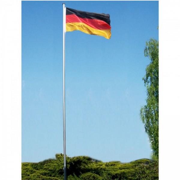Grafner® Fahnenmast Aluminium ca. 6 Meter mit Deutschland Flagge