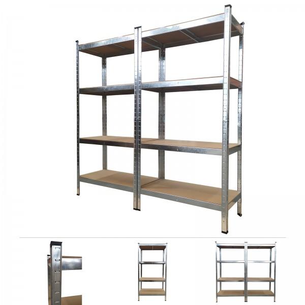 Grafner® Doppel Schwerlastregal 1,60m Werkstattregal 1400kg Traglast
