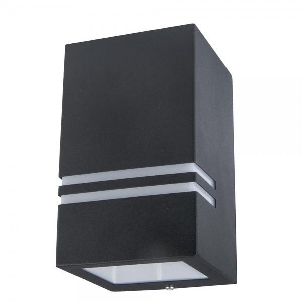 Grafner Edelstahl-Wandlampe 5142 WL10530 schwarz