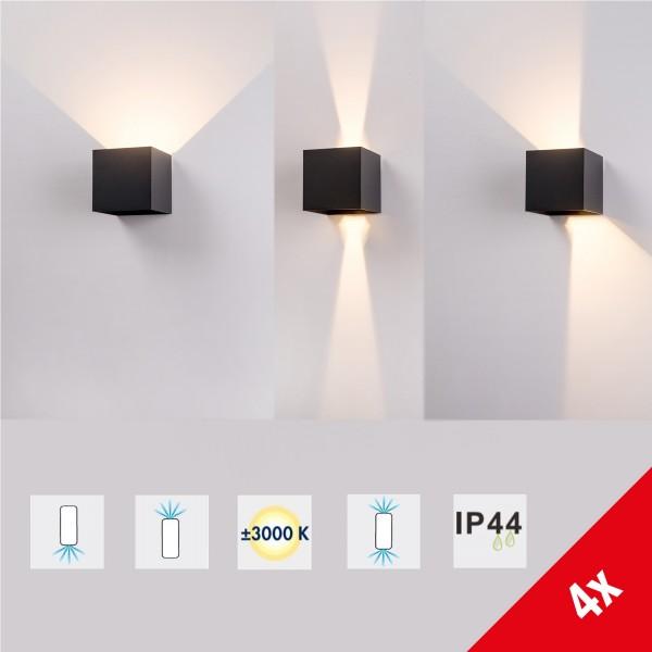 Grafner® Aluminium Wandlampe anthrazit für Innen und Außen