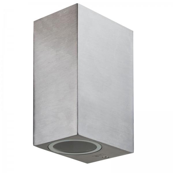 Grafner® Aluminium Wandlampe 37SQWB-2 poliert Wandleuchte Lichtschein Up&Down/Oben&Unten