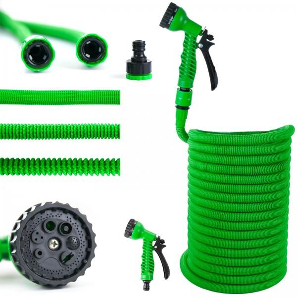 Grafner® Premium Basic Flexibler Gartenschlauch Wasserschlauch 30m grün