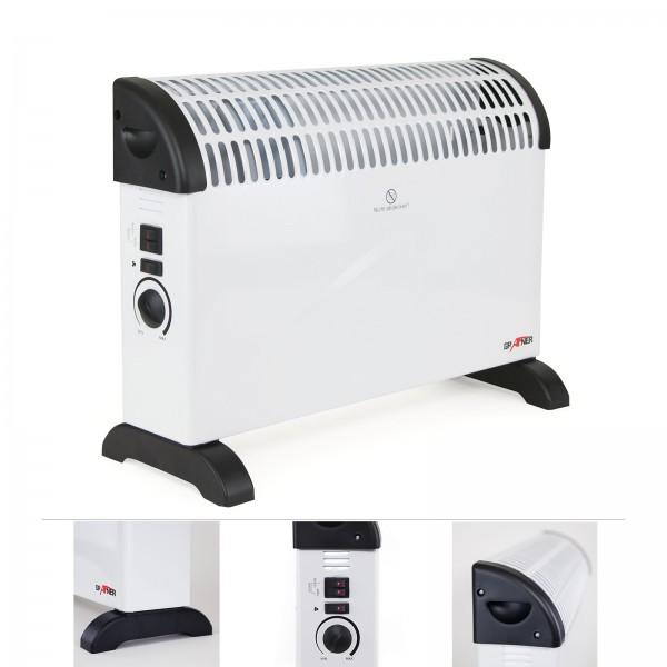 Grafner® Konvektor Heizgerät 2000 Watt mit Turbolüfter und Frostwächterfunktion Radiator