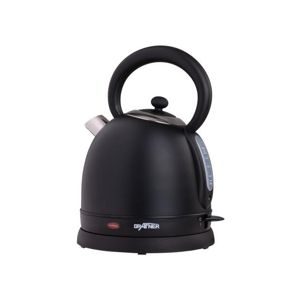 Grafner® Retro-Wasserkocher 1,8 Liter 2200 Watt schwarz WK10862