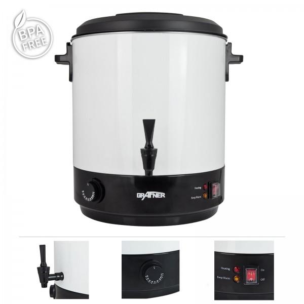 Grafner® Edelstahl-Einkochautomat 2500 Watt 25 Liter mit Zapfhahn EA10742