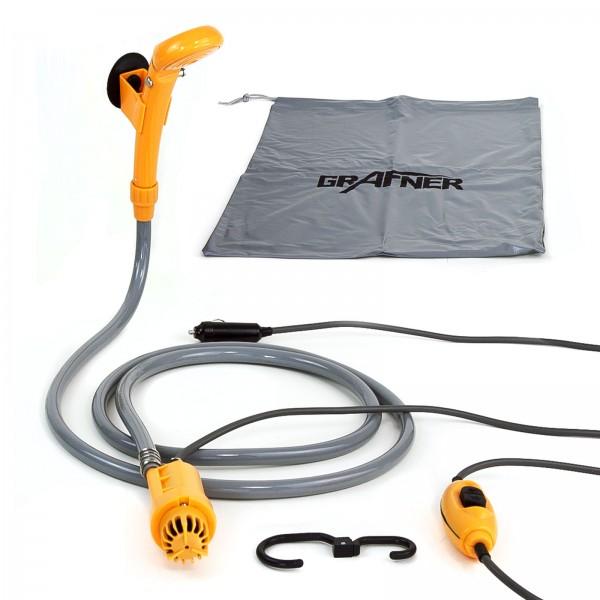 Grafner® elektrische Camping Dusche 12V mit KFZ-Adapter