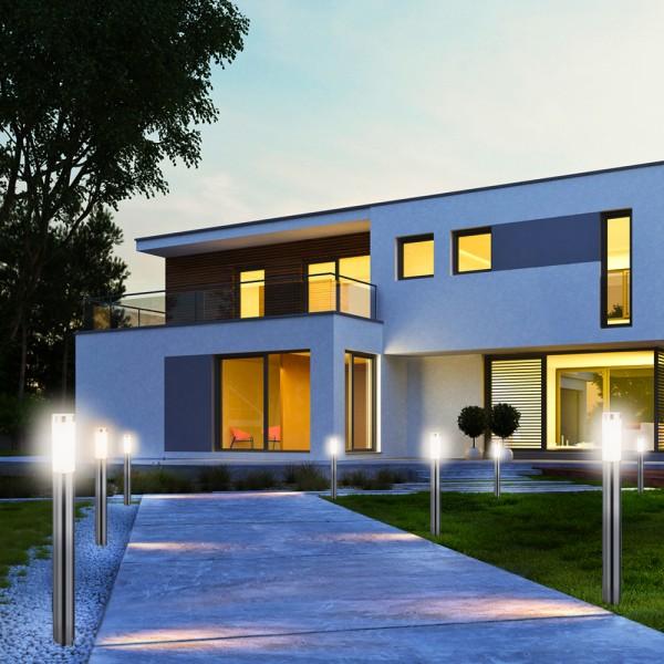 2er Set Grafner® Edelstahl Wegleuchte WL10190 Gartenlampe 110 cm