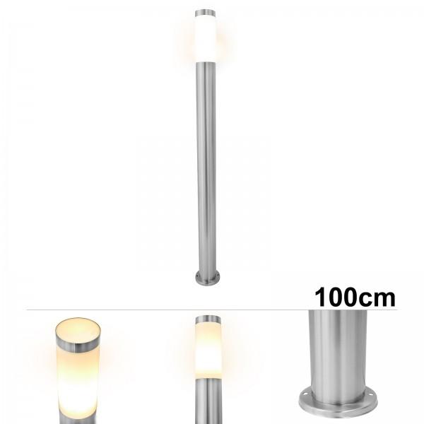 Grafner® Edelstahl Wegleuchte WL10189 Gartenlampe 100 cm