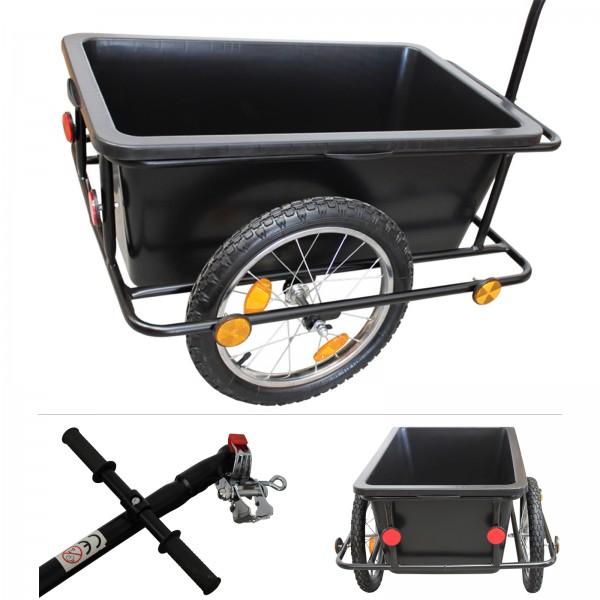 Grafner® Fahrradanhänger mit Universalkupplung Handwagen Lastenanhänger Radanhänger